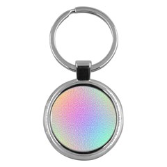 Rainbow Colorful Grid Key Chains (round)  by designworld65