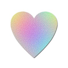 Rainbow Colorful Grid Heart Magnet by designworld65