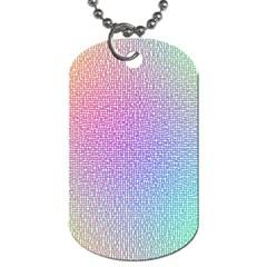 Rainbow Colorful Grid Dog Tag (two Sides) by designworld65