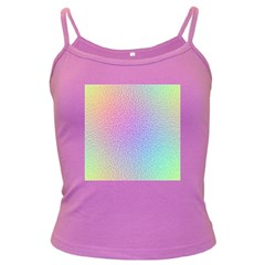 Rainbow Colorful Grid Dark Spaghetti Tank by designworld65