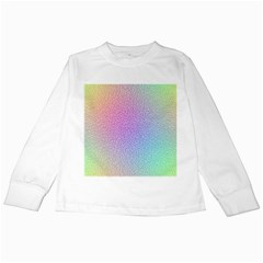 Rainbow Colorful Grid Kids Long Sleeve T Shirts by designworld65