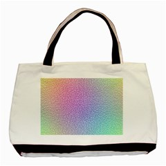 Rainbow Colorful Grid Basic Tote Bag by designworld65