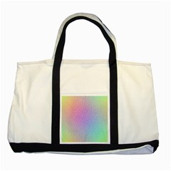 Rainbow Colorful Grid Two Tone Tote Bag by designworld65