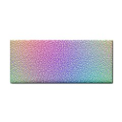 Rainbow Colorful Grid Hand Towel by designworld65