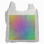 Rainbow Colorful Grid Recycle Bag (One Side) Front