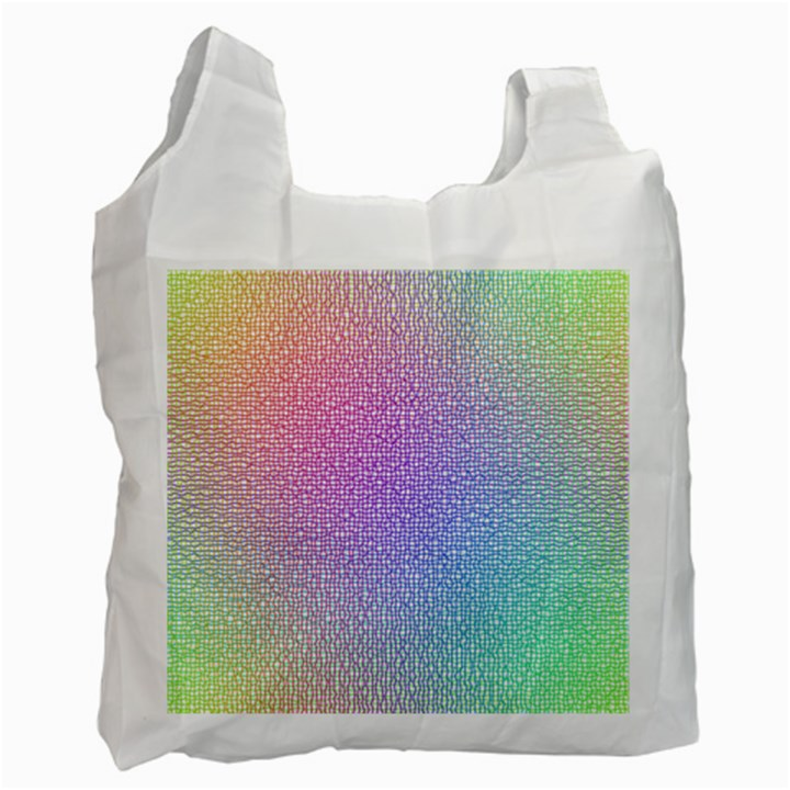 Rainbow Colorful Grid Recycle Bag (One Side)