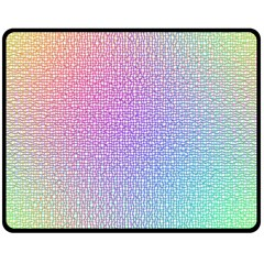 Rainbow Colorful Grid Fleece Blanket (medium)  by designworld65