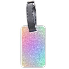 Rainbow Colorful Grid Luggage Tags (one Side)  by designworld65