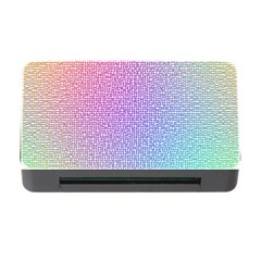 Rainbow Colorful Grid Memory Card Reader With Cf by designworld65
