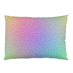 Rainbow Colorful Grid Pillow Case (two Sides) by designworld65