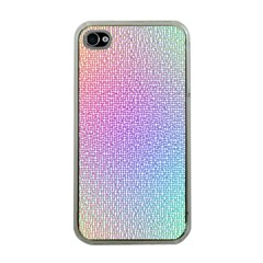 Rainbow Colorful Grid Apple Iphone 4 Case (clear) by designworld65