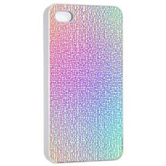 Rainbow Colorful Grid Apple Iphone 4/4s Seamless Case (white) by designworld65