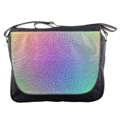 Rainbow Colorful Grid Messenger Bags by designworld65