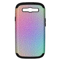 Rainbow Colorful Grid Samsung Galaxy S Iii Hardshell Case (pc+silicone) by designworld65