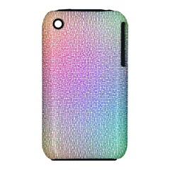 Rainbow Colorful Grid Apple Iphone 3g/3gs Hardshell Case (pc+silicone) by designworld65