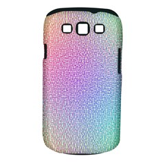 Rainbow Colorful Grid Samsung Galaxy S Iii Classic Hardshell Case (pc+silicone) by designworld65