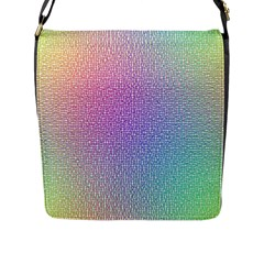 Rainbow Colorful Grid Flap Messenger Bag (l)  by designworld65
