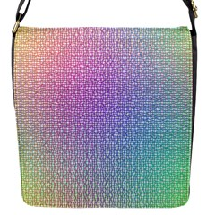 Rainbow Colorful Grid Flap Messenger Bag (s) by designworld65