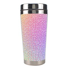 Rainbow Colorful Grid Stainless Steel Travel Tumblers by designworld65