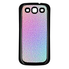 Rainbow Colorful Grid Samsung Galaxy S3 Back Case (black) by designworld65