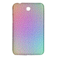 Rainbow Colorful Grid Samsung Galaxy Tab 3 (7 ) P3200 Hardshell Case  by designworld65