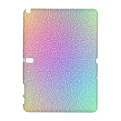 Rainbow Colorful Grid Samsung Galaxy Note 10 1 (p600) Hardshell Case by designworld65