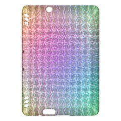 Rainbow Colorful Grid Kindle Fire Hdx Hardshell Case by designworld65