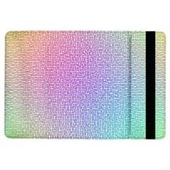 Rainbow Colorful Grid Ipad Air Flip by designworld65