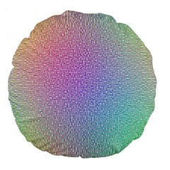 Rainbow Colorful Grid Large 18  Premium Flano Round Cushions by designworld65