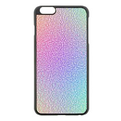 Rainbow Colorful Grid Apple Iphone 6 Plus/6s Plus Black Enamel Case by designworld65