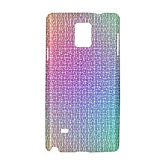 Rainbow Colorful Grid Samsung Galaxy Note 4 Hardshell Case by designworld65