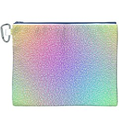 Rainbow Colorful Grid Canvas Cosmetic Bag (xxxl) by designworld65