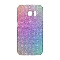 Rainbow Colorful Grid Galaxy S6 Edge by designworld65