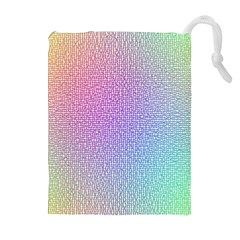 Rainbow Colorful Grid Drawstring Pouches (extra Large) by designworld65