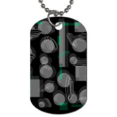 Come Down   Green Dog Tag (two Sides) by Valentinaart