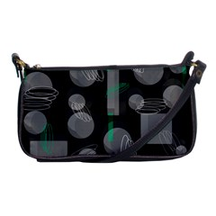 Come Down   Green Shoulder Clutch Bags by Valentinaart