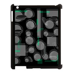 Come Down   Green Apple Ipad 3/4 Case (black) by Valentinaart
