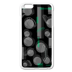 Come Down   Green Apple Iphone 6 Plus/6s Plus Enamel White Case by Valentinaart