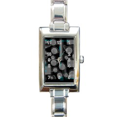 Come Down   Blue Rectangle Italian Charm Watch by Valentinaart