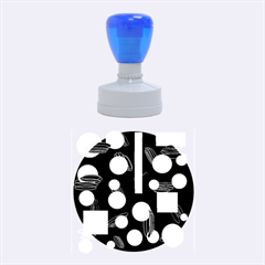 Come Down   Blue Rubber Round Stamps (medium) by Valentinaart