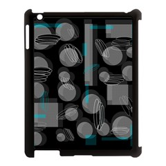 Come Down   Blue Apple Ipad 3/4 Case (black) by Valentinaart