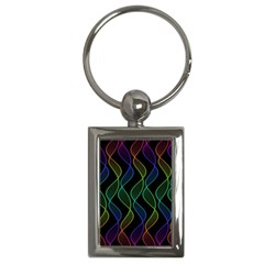 Rainbow Helix Black Key Chains (rectangle)  by designworld65