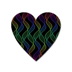 Rainbow Helix Black Heart Magnet by designworld65