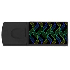 Rainbow Helix Black Usb Flash Drive Rectangular (4 Gb)  by designworld65