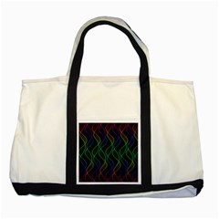 Rainbow Helix Black Two Tone Tote Bag by designworld65