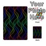 Rainbow Helix Black Multi-purpose Cards (Rectangle)  Frontback