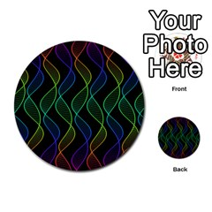 Rainbow Helix Black Multi Purpose Cards (round)  by designworld65