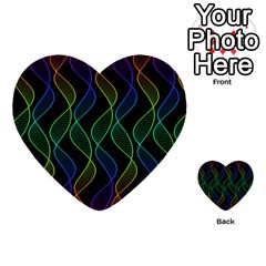 Rainbow Helix Black Multi Purpose Cards (heart)  by designworld65