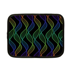 Rainbow Helix Black Netbook Case (small)  by designworld65