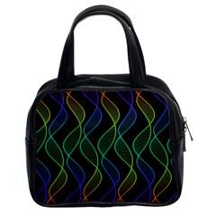 Rainbow Helix Black Classic Handbags (2 Sides) by designworld65